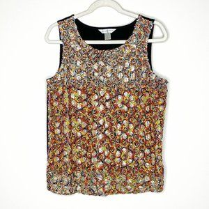 Christopher & Banks Confetti Textured Sequin Shell